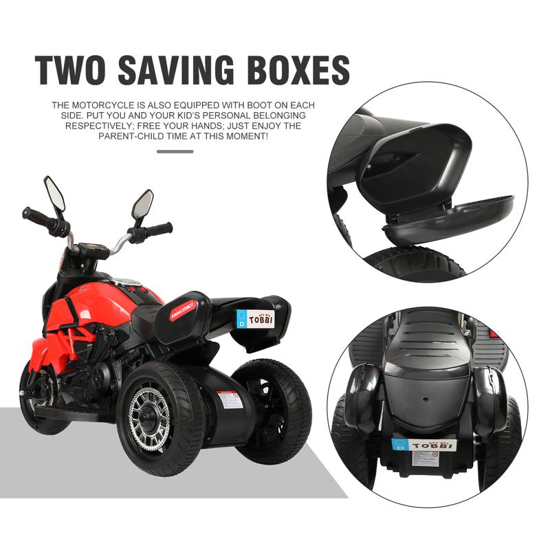 3 Wheel Motorcycle for Kids, Red 3 wheeled motorcycle red 27 2