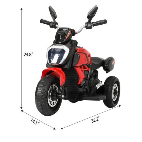 3-Wheeled Motorcycle, Red 3 wheeled motorcycle red 8