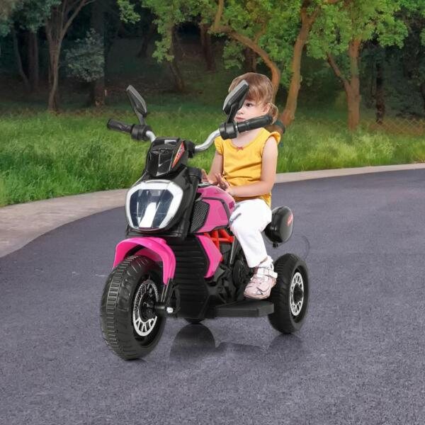 3 Wheel Motorcycle for Kids, Rose Red 3 wheeled motorcycle rose red 14
