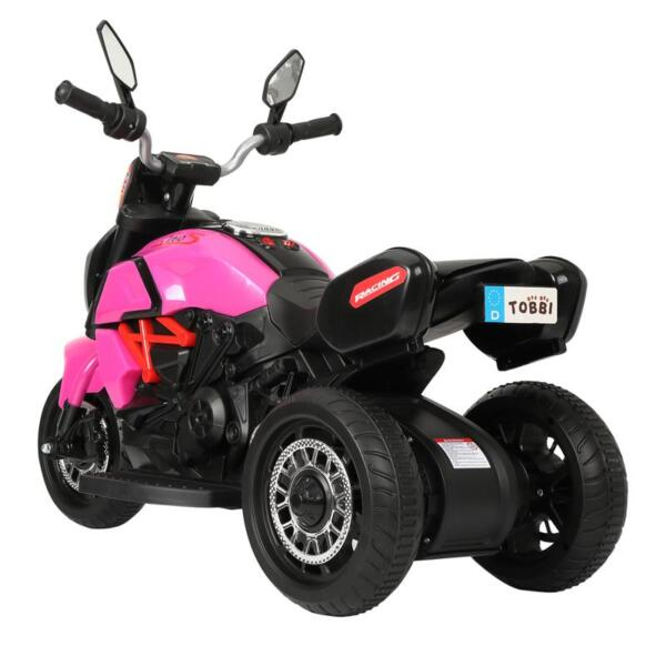 3 Wheel Motorcycle for Kids, Rose Red 3 wheeled motorcycle rose red 2