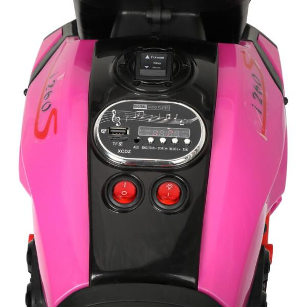 3 Wheel Motorcycle for Kids, Rose Red 3 wheeled motorcycle rose red 20