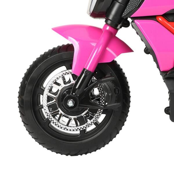 3 Wheel Motorcycle for Kids, Rose Red 3 wheeled motorcycle rose red 24