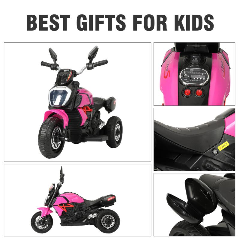 3 Wheel Motorcycle for Kids, Rose Red 3 wheeled motorcycle rose red 27 2
