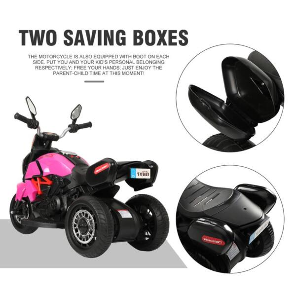 3 Wheel Motorcycle for Kids, Rose Red 3 wheeled motorcycle rose red 28