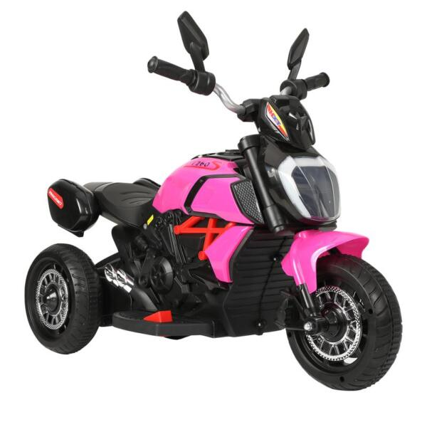 3 Wheel Motorcycle for Kids, Rose Red 3 wheeled motorcycle rose red 4