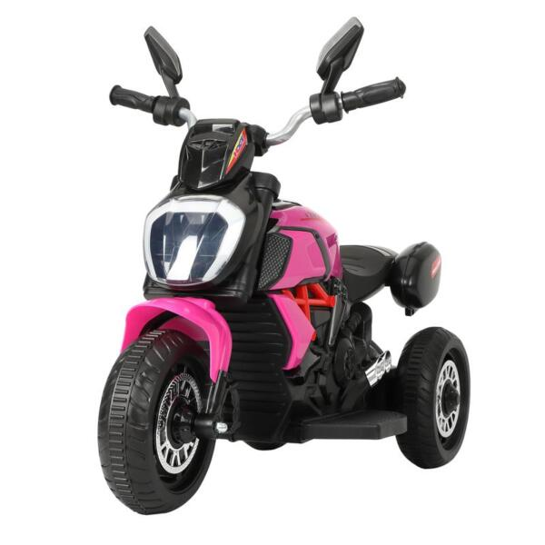 3 Wheel Motorcycle for Kids, Rose Red 3 wheeled motorcycle rose red 7