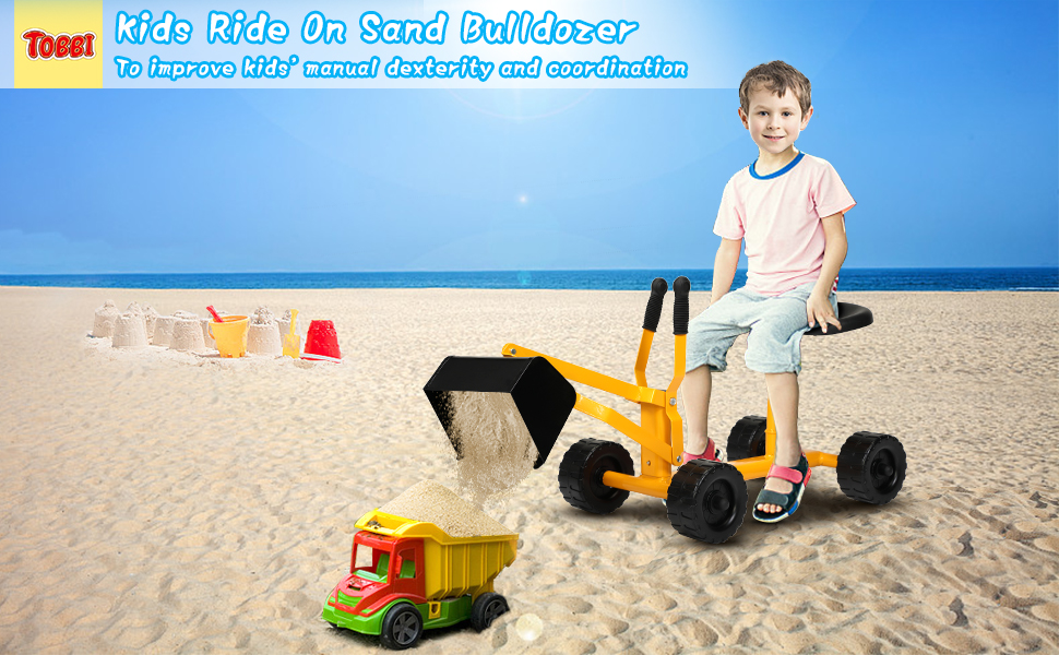 Kids Ride-on Sand Dumper Toy for 3-12 Years Old 31