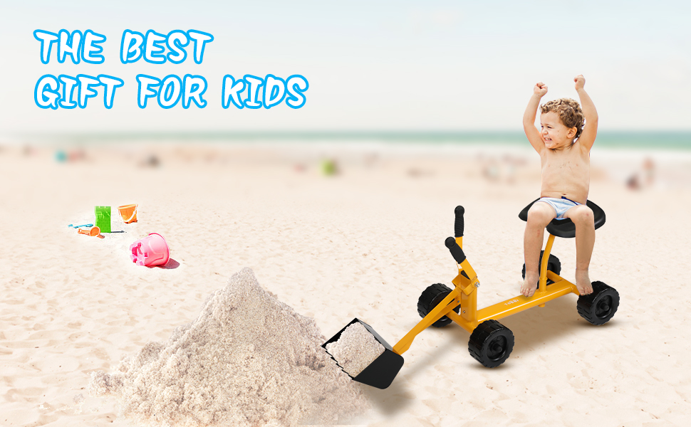 Kids Ride-on Sand Dumper Toy for 3-12 Years Old 33