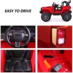 12V Kids Jeep Wrangler Electric Car W/ RC 3333 1