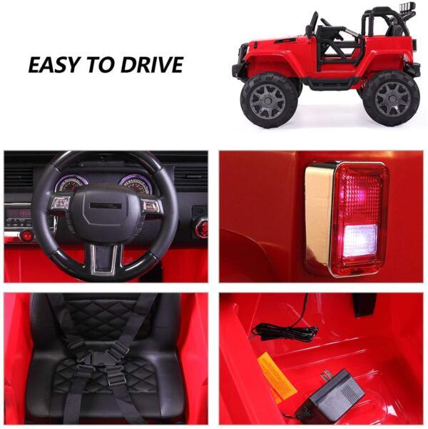 12V Kids Jeep Wrangler Electric Car W/ RC 3333 1 kids jeep