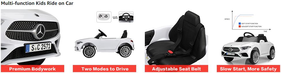 12V Electric Car for Kids Licensed Mercedes Benz CLS 350 Ride On Car 4 12