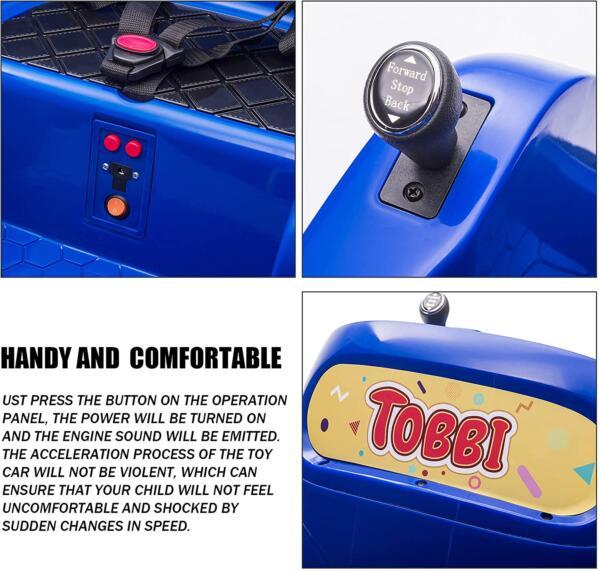 6V Electric Baby Bumper Car with Remote Control, Dark Blue 4 29