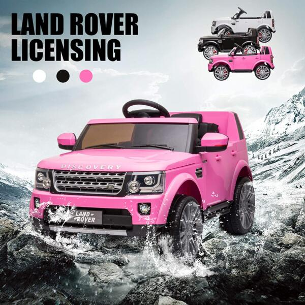 12V Licensed Land Rover Power Wheels Ride on SUV for Kids with Remote Control, Pink 4 33