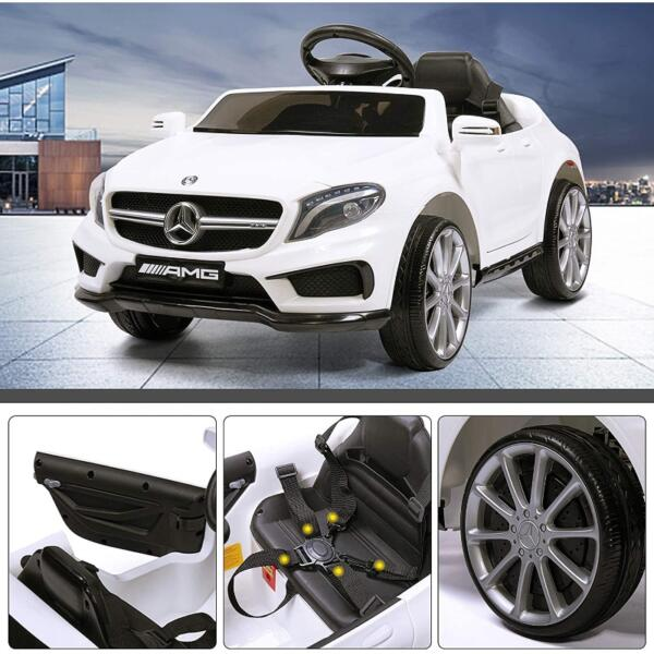 Licensed Mercedes Benz RC Car Toy with Double Doors, White 4 43