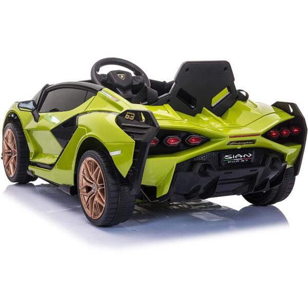 12V Licensed Lamborghini Sian Children's Electric Ride On Car, Green 4 49