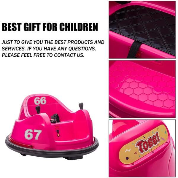 6V Children's Electric Bumper Car with Remote Control 4 58