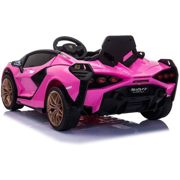 12V Kids Car Licensed Lamborghini Sian with Remote Control for Girls 4 61