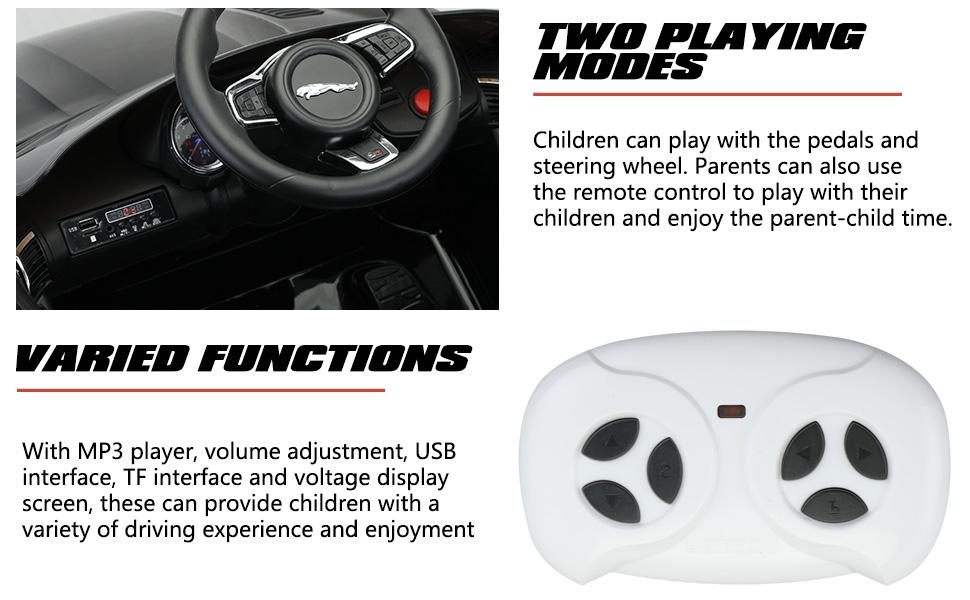 12V Kids Electric Ride on Car Toy Jaguar F-Type SVR 4 70