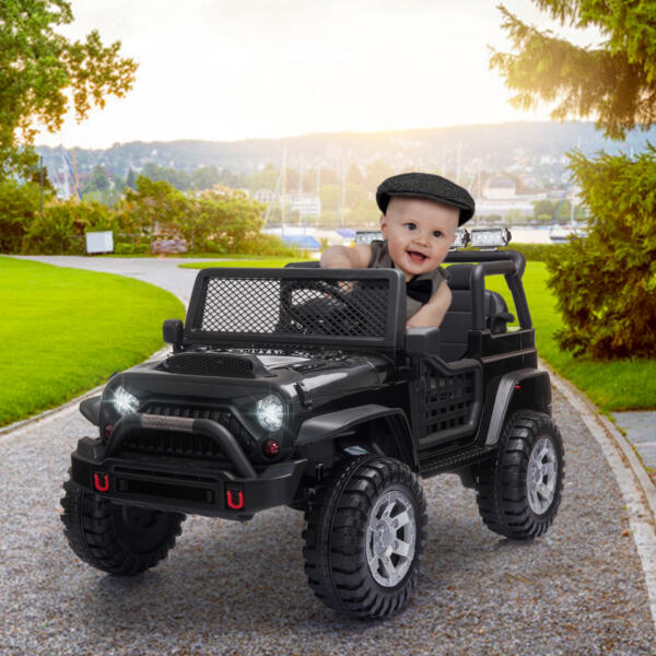 12V Electric Ride On Truck for Kids with Remote Control, Black 4 81