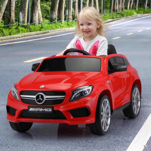 12V Mercedes Benz GLA45 Kids 2 Seater Power Wheels With Remote, Red 4 86