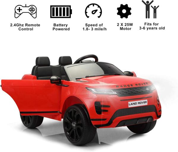 12V Land Rover Kids Power Wheels Ride On Toys With Remote, Red 4 89