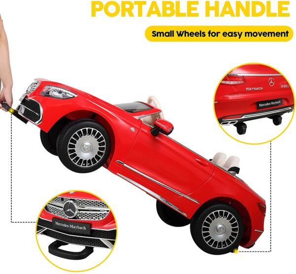 12V Mercedes-Maybach Kids Ride on Car with Remote Conrtol, Red 4 93