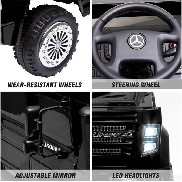 6V Mercedes Benz Unimog U500 Kids Ride on SUV Car with Remote Control, Black 4 94