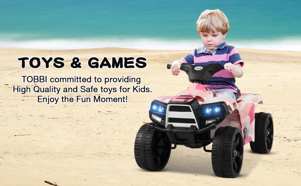 12V Electric Ride On Kids ATV, Pink 41