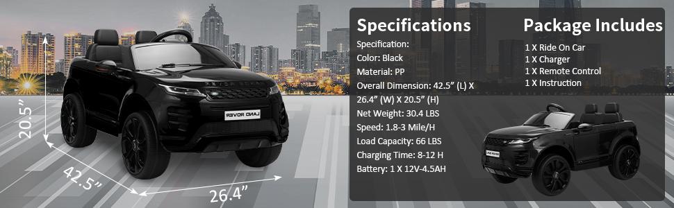 12V Land Rover Ride-on SUV Car for Kids, Black 4316bfb0 fe3e 4792 af3e 912bbdec8b31. CR00970300 PT0 SX970 V1
