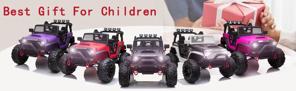 12V Powerful Ride On Truck Jeep Wrangler for Kids 5 103