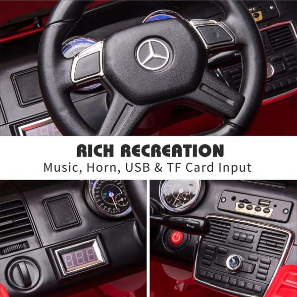 12V Licensed Mercedes Benz G65 Electric Ride on Car for Kids with Remote Control, Red 5 11