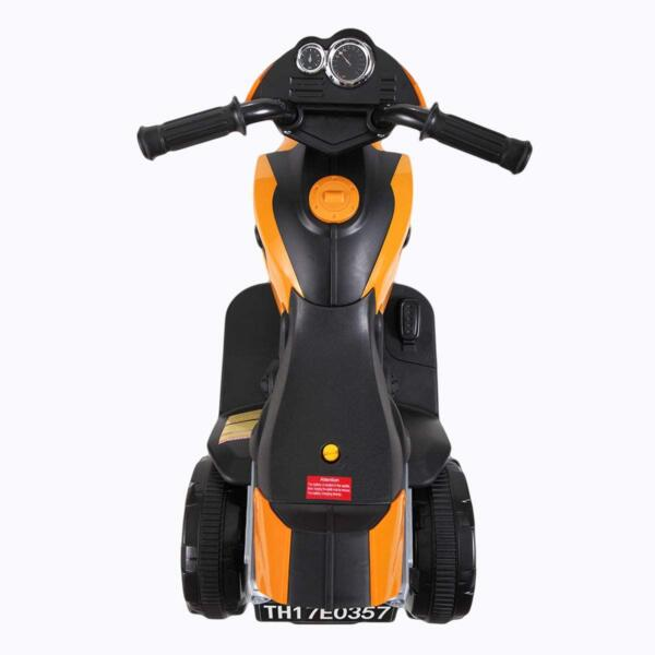 6V Kids Motorcycle Battery Powered Motorcycle for Kids, Orange 5 19