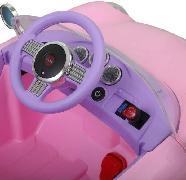 Vintage Style Battery Powered Kids Ride on Car with Remote Control, Pink 5 29
