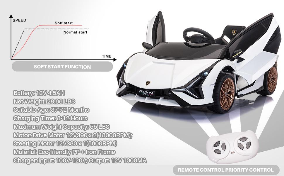 Licensed Lamborghini Sian 12V Children's Electric Ride On Car Toy 5 37
