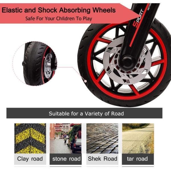 12V Kids Motorcycle Toy 3 Wheels Electric Trike 5 46