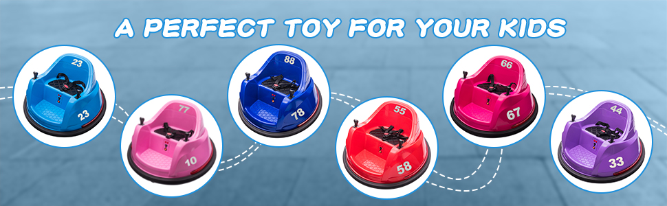 6V Electric Ride On 360 Spin Bumper Car for Kids with Remote Control, Red 5 52