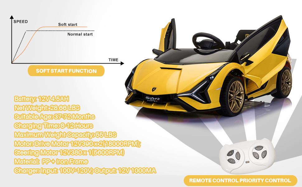 Licensed Lamborghini Sian Car Toy w/ Scissor Door 5 54