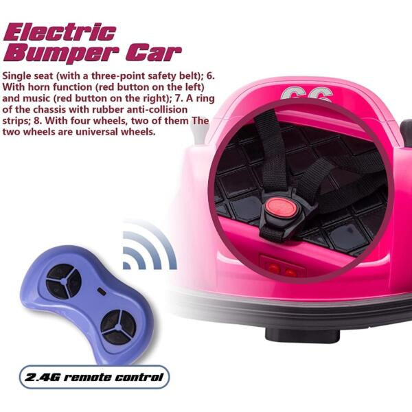 6V Children's Electric Bumper Car with Remote Control 5 57