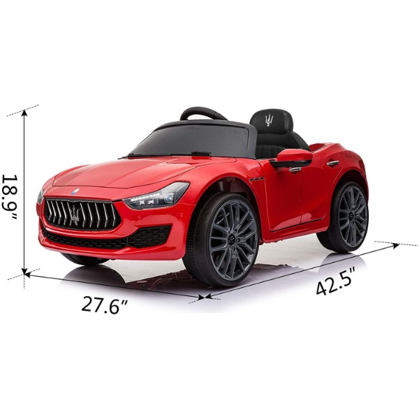 Maserati Kids Car 12V Ride On With Remote, Red 5 6
