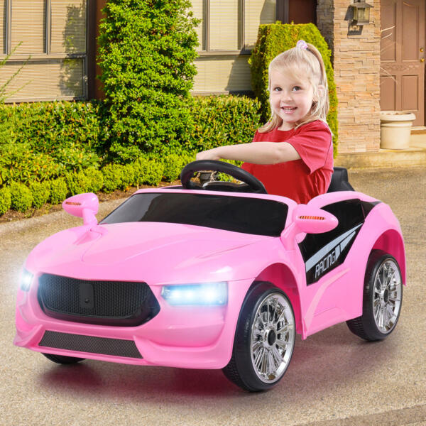6V Kids Electric Ride On Racing Car with Remote Control, Pink 5 83