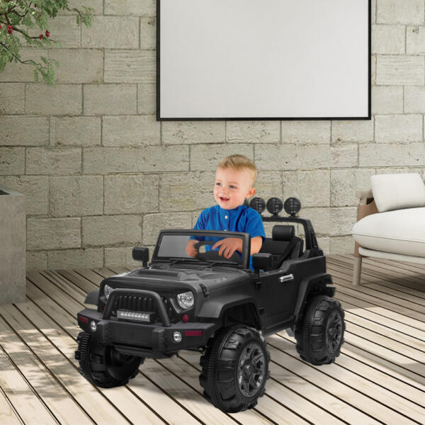 12V Battery Operated Kids Ride On Truck with Remote Control, Black 5 84