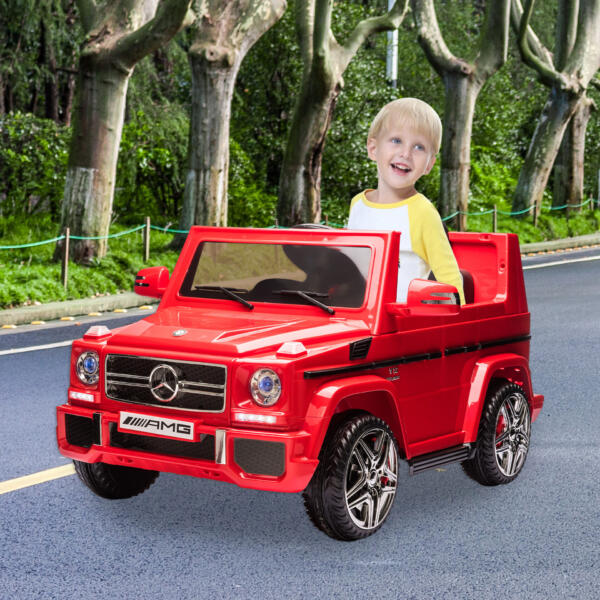 12V Licensed Mercedes Benz G65 Electric Ride on Car for Kids with Remote Control, Red 5 85