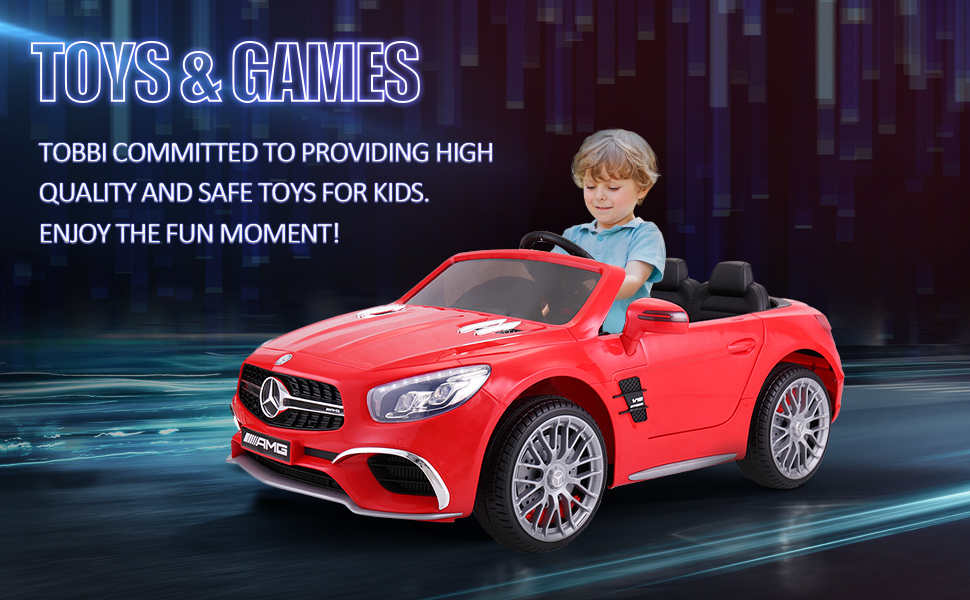 12V Mercedes Benz 2 Seater Kids Power Wheels With Remote, Red 5 93