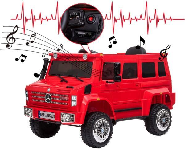 6V Mercedes Benz Unimog U500 Kids Ride on SUV Car with Remote Control, Red 5 98