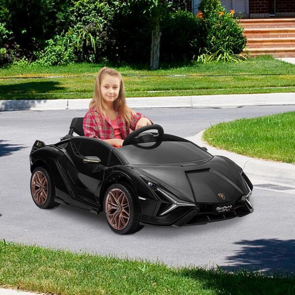 12V Lamborghini Sian Ride on Kids Electric Car with Remote Control, Black 6 19
