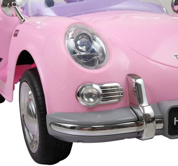 Vintage Style Battery Powered Kids Ride on Car with Remote Control, Pink 6 27