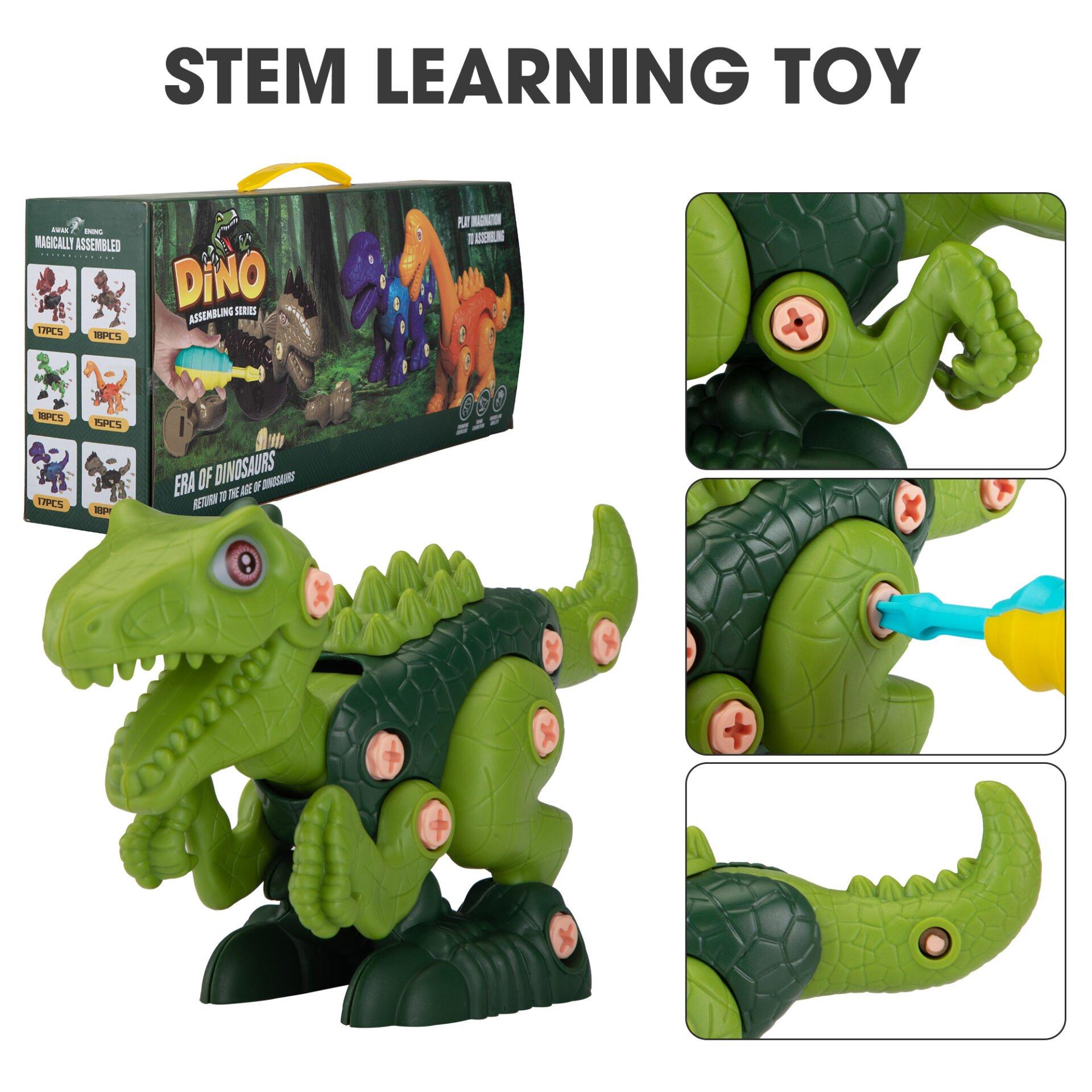 6 Packs DIY Building Dinosaur Toys Set 6 3