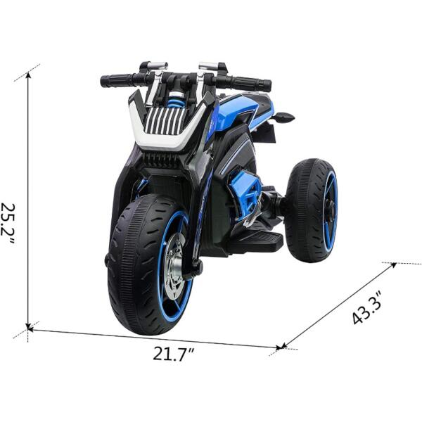 12V Kids Motorcycle Toy 3 Wheels Electric Trike for Boys and Girls 6 34