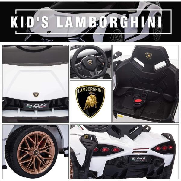 Licensed Lamborghini Sian 12V Children's Electric Ride On Car Toy 6 36