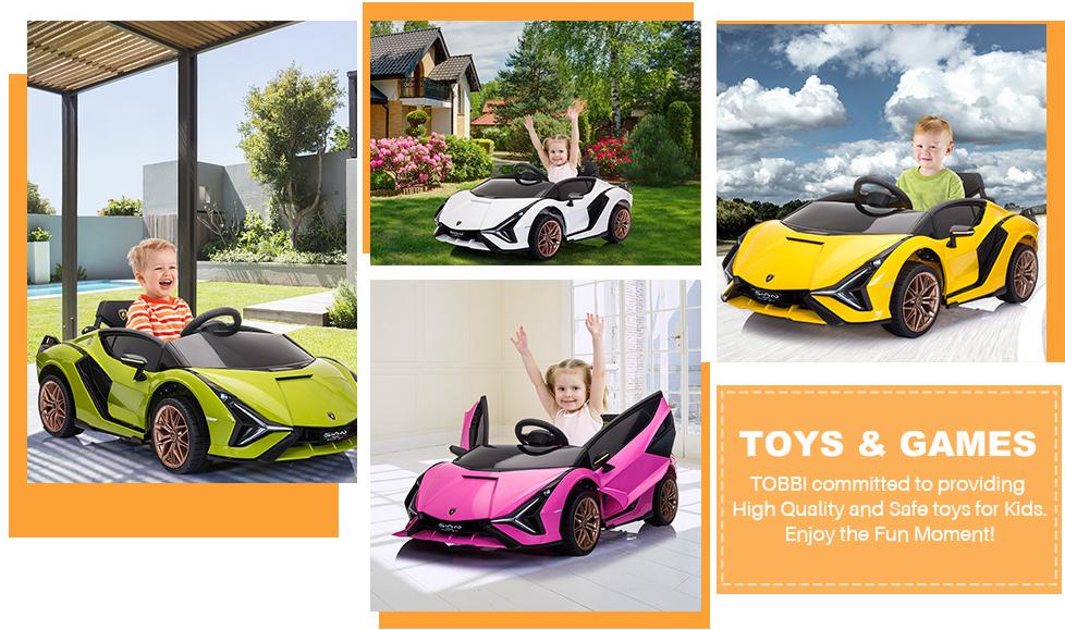 Licensed Lamborghini Sian Car Toy w/ Scissor Door 6 4